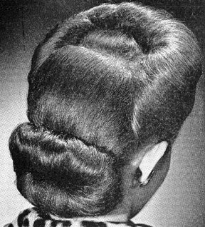 vintage hairstyle bun mildred pierce final