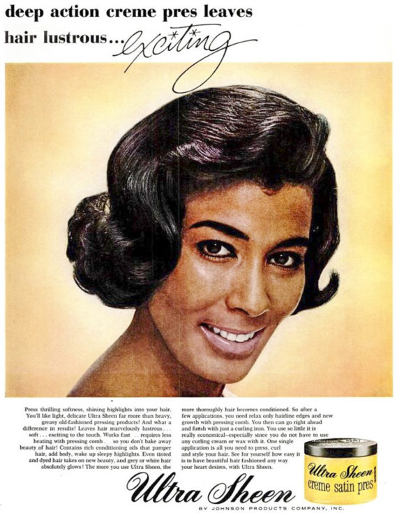 Ebony April 1965 African-American 1960s hairstyle Ultra Sheen advertisement