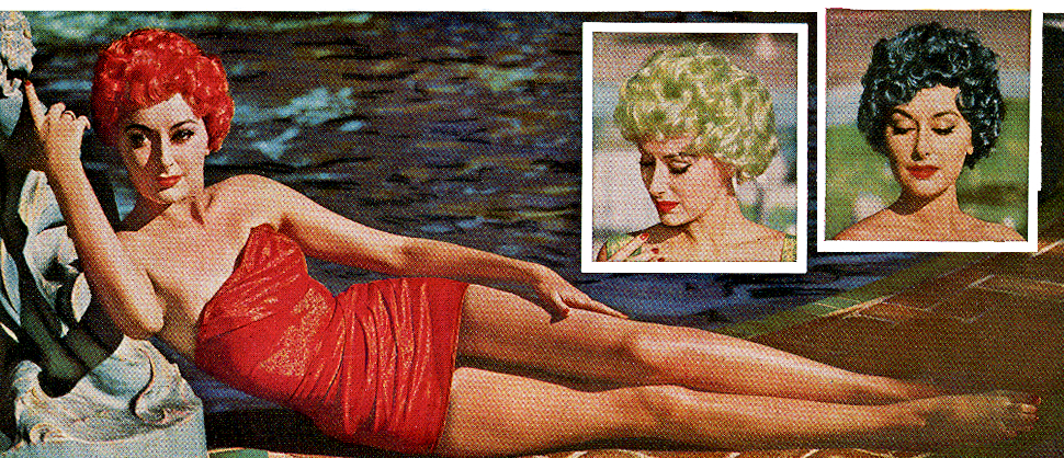 Creative Vintage Wig Hair Color in the 1950s