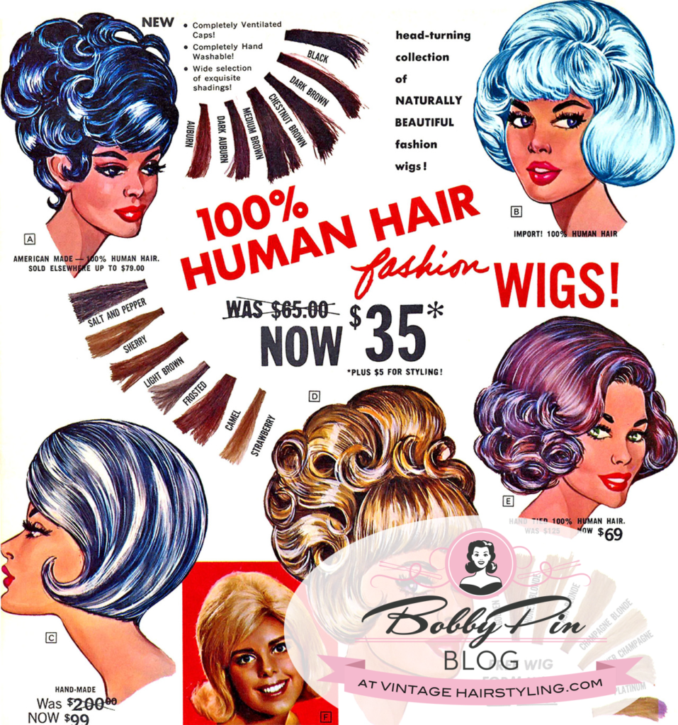 Creative Vintage Wig Hair Color In The 1950s And 1960s