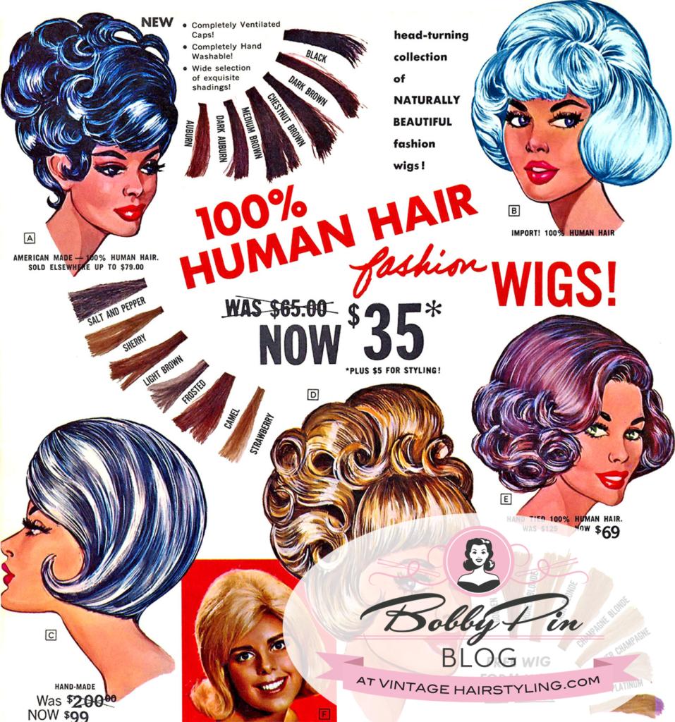 1960/'s Curler Wig