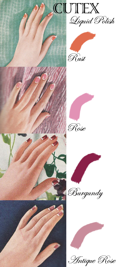 Think Outside The Red U2013 Other Ideas For Your Vintage Nail Polish Color | Bobby Pin Blog ...