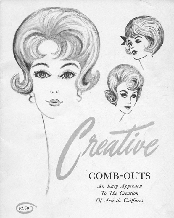 Vintage Creative Combing Hairstyle Magazine