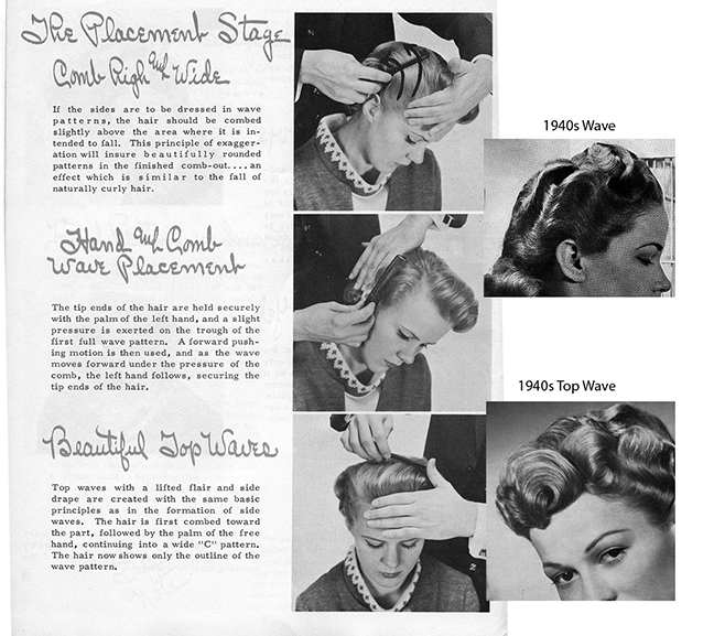 Vintage Creative Combing Hairstyle Magazine Bobby Pin Blog