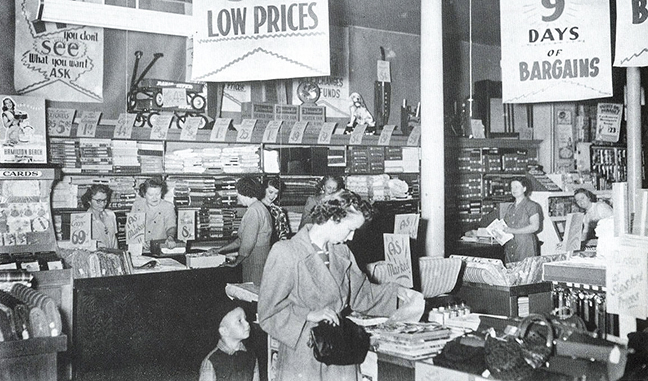 1940s vintage dry goods department store