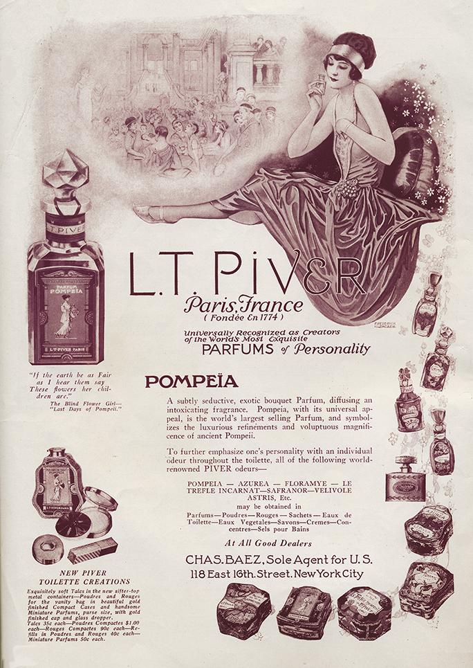 Pompeia vintage makeup advertisement 1923 1920s