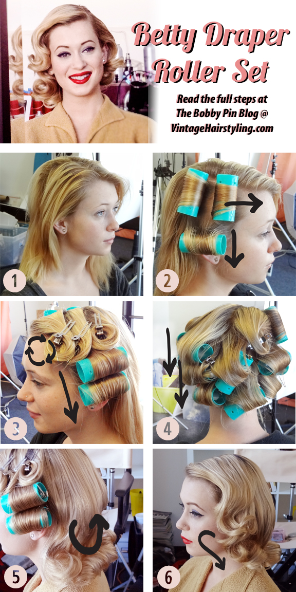 Betty Draper Inspired Hairstyle How To Bobby Pin Blog Vintage