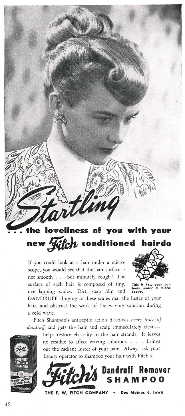 1946 American Hairdresser Flitch Shampoo Ad