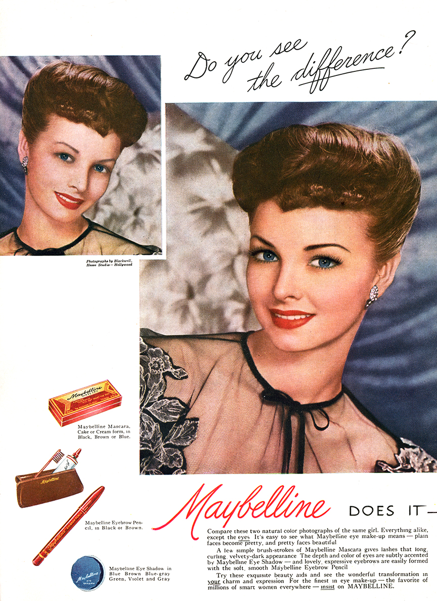 1950s vintage Maybelline Makeup Advertisement