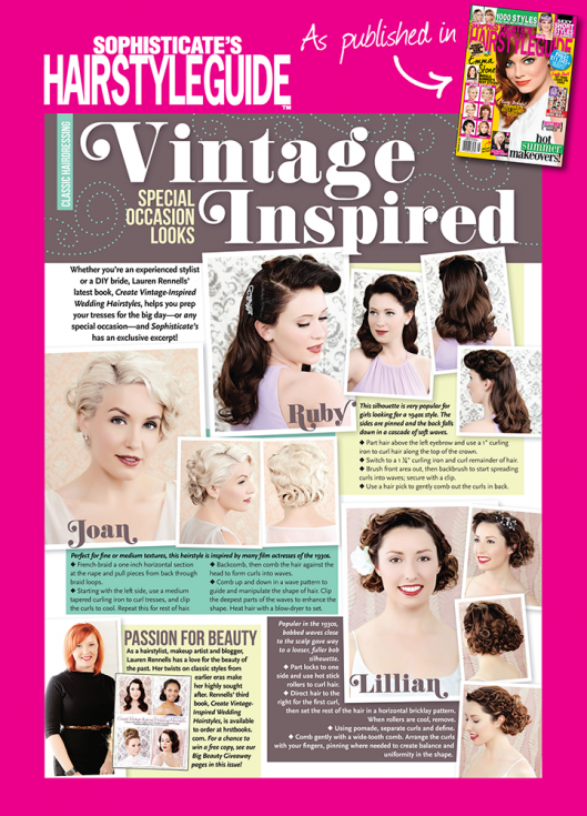 Sophisticate Hairstyle Guide Aug 2015 Vintage Prom Hairstyles Up-do 2