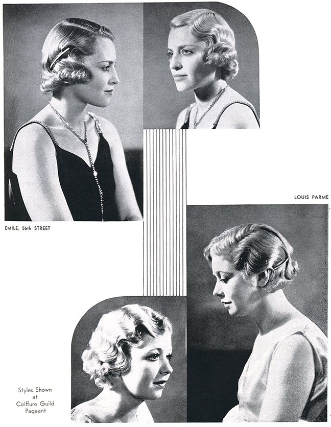 1930s vintage hairstyle accessories