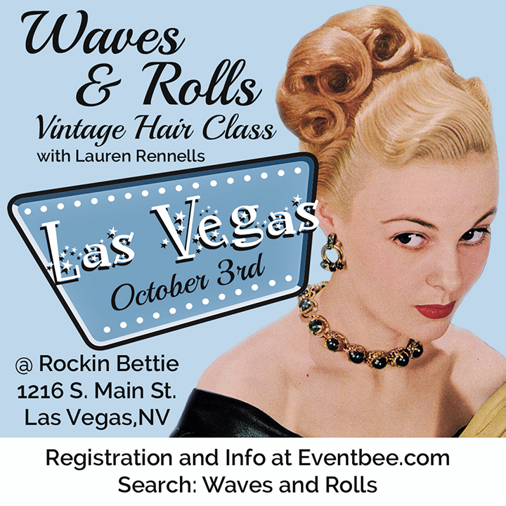 Las Vegas Waves and Rolls Vintage Hair Class Ad