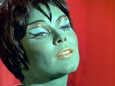 Star Trek green alien Marta makeup atompunk atomicpunk