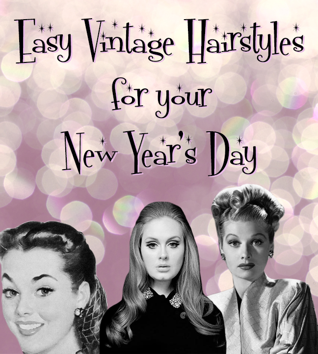Cool 3 Easy New Year39S Day Vintage Hairstyles You Can Do With Your Hairstyles For Men Maxibearus