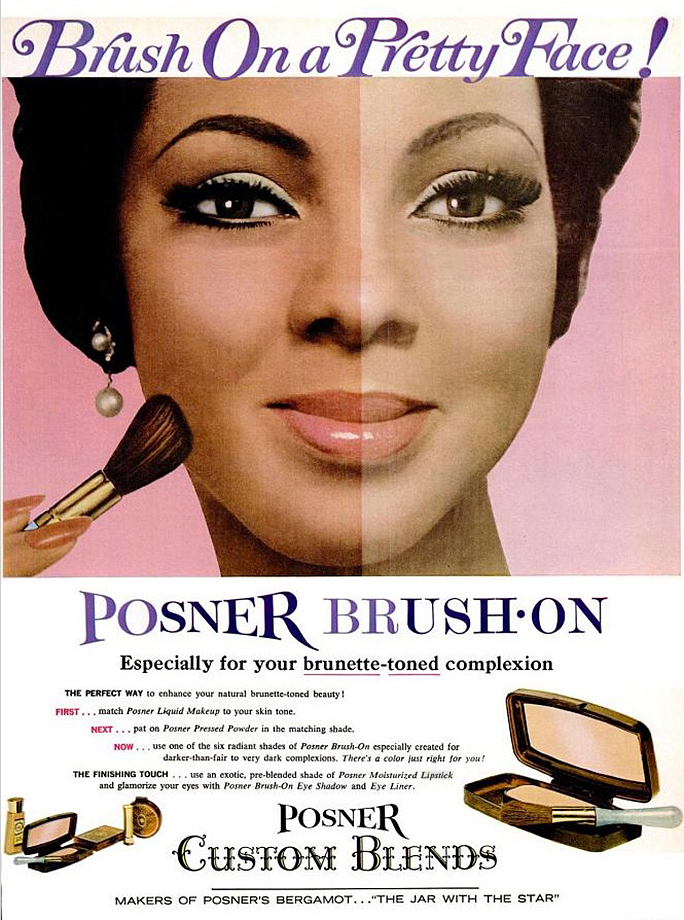 vintage makeup for darker skin tones � foundations and