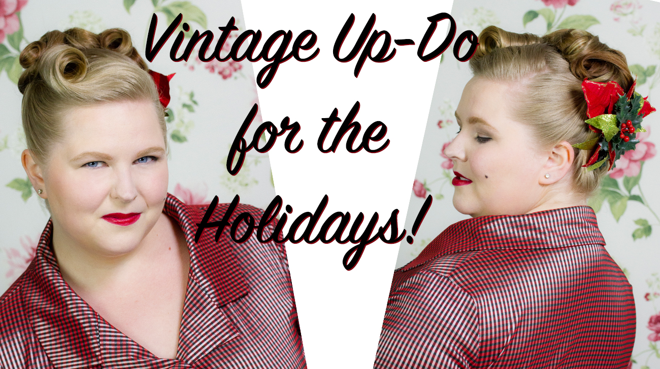 Vintage Updo For The Holidays Or New Years Eve Bobby Pin Blog