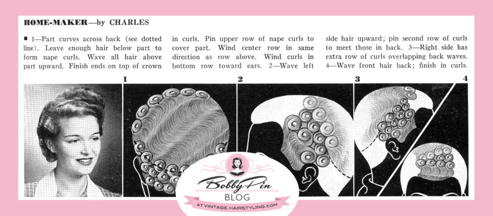 Demystifying Pin Curls Bobby Pin Blog Vintage Hair And Makeup