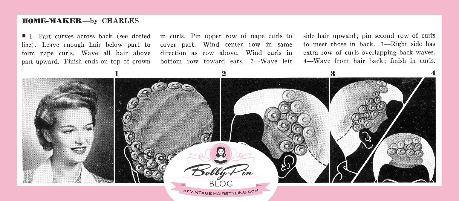 Demystifying Pin Curls Bobby Pin Blog Vintage Hair And