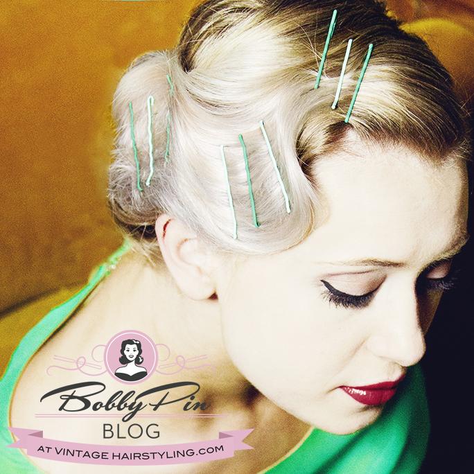 tintomatic_green_bobby_pins_blonde_fingerwaves_vintage_hair
