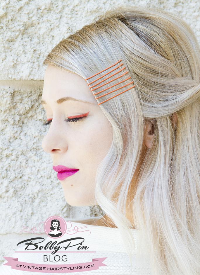 tintomatic_orange_bobby_pins_blonde_pink_lipstick