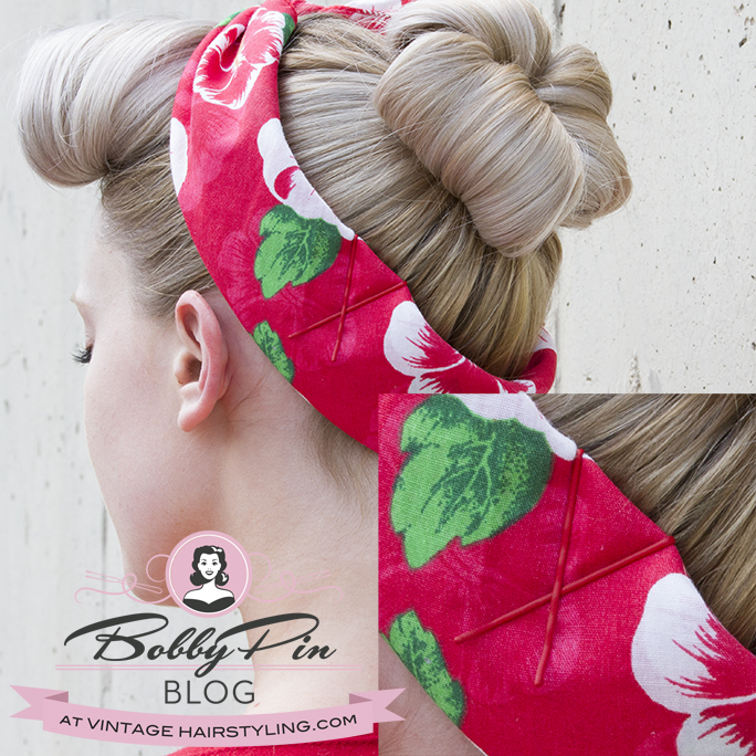 tintomatic_red_bobby_pins_blonde_rockabilly_vintage_hair_bandana_hairstyle_rosie_riveter