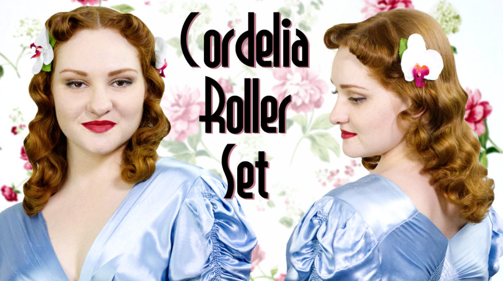 Cordelia roller set using the Rockin' Rollers
