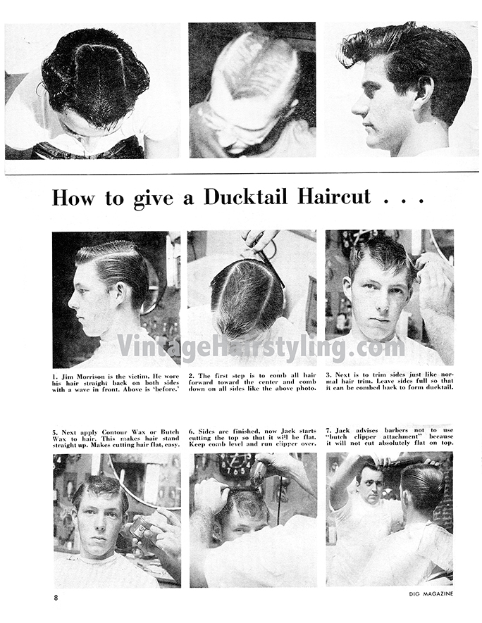 Astonishing Mens Vintage 1950S Haircuts Ducktail Tutorial And More Bobby Schematic Wiring Diagrams Amerangerunnerswayorg