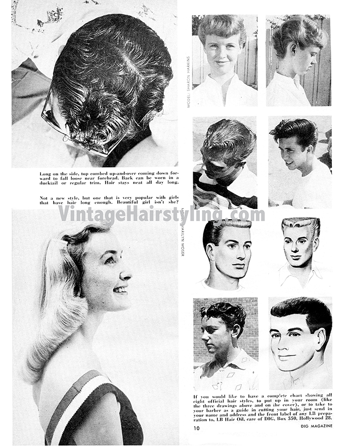 Fantastic Mens Vintage 1950S Haircuts Ducktail Tutorial And More Bobby Schematic Wiring Diagrams Amerangerunnerswayorg