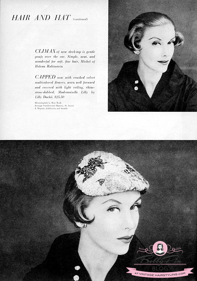 Astonishing Hairstyles For Hats In The 1950S Bobby Pin Blog Vintage Hair Schematic Wiring Diagrams Amerangerunnerswayorg