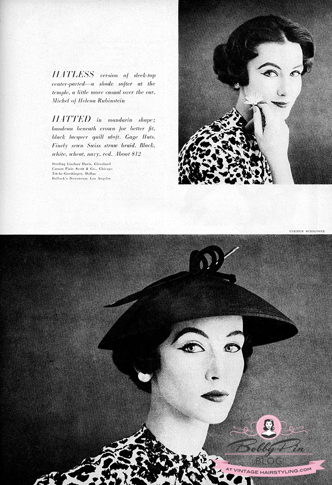 Terrific Hairstyles For Hats In The 1950S Bobby Pin Blog Vintage Hair Schematic Wiring Diagrams Amerangerunnerswayorg